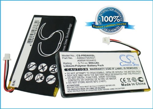 800mAh e-Reader Battery For Sony PRS-600, PRS-600/RC, PRS-600/BC by CS
