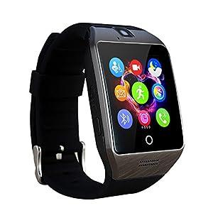 WOTUMEO Bluetooth Montre Smart Watch LCD De Téléphone Tactile Wristwatch Intelligent Avec Caméra NFC Soutien SIM Card TF Tracking Téléphone Anti-lost Message Sync Pour Samsung / HTC / Sony Smartphone Android (Noir)
