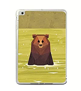 Bear in River 2D Hard Polycarbonate Designer Back Case Cover for Apple iPad Mini 4 :: Apple iPad Mini 2 :: Apple iPad Mini 2 Wi-Fi + Cellular :: Apple iPad Mini 3 :: Apple iPad Mini 3 Wi-Fi + Cellular