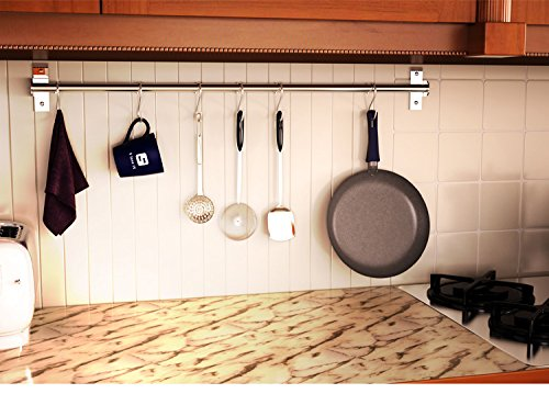 Wall Mounted Pan Pot Rack Kitchen Utensils Hanger Organizer Lid Holder 39
