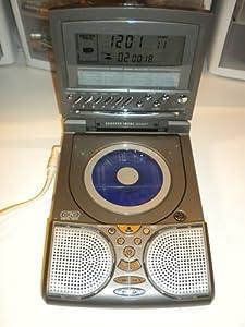 sharper image si686 cd radio alarm clock with 20 sound soother e. Black Bedroom Furniture Sets. Home Design Ideas