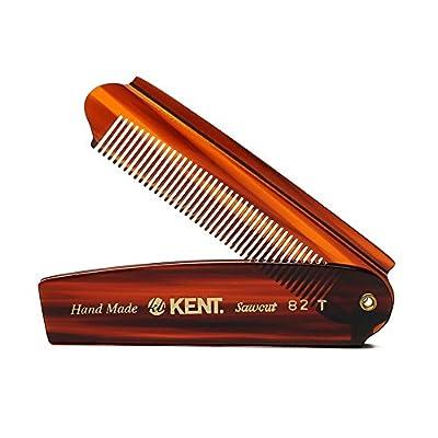 Kent - The Handmade Comb Gentleman's Folding Pocket Comb Sawcut 82T