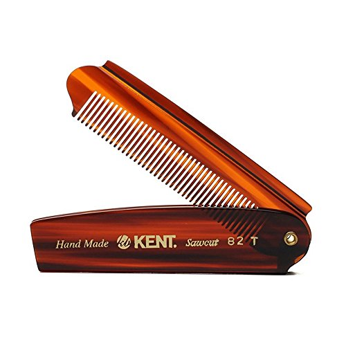 Kent Mens Large Folding Fine Pocket Comb 200mm