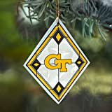 Georgia Tech Stained Glass Ornament