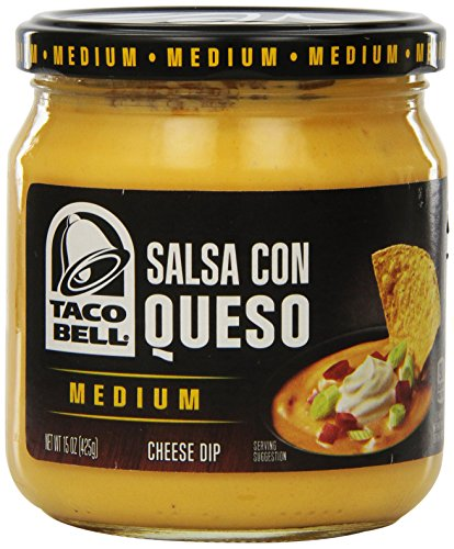 Taco Bell Salsa con Queso, Cheese Dip, Medium, 15 Ounce (Pack of 12) (Taco Cheese compare prices)