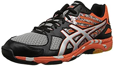 Asics Men's Gel-Flashpoint 2 Volleyball Shoe,Black/Silver/Flame,8.5 M US