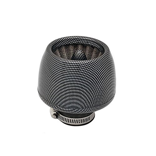 "35mm Universal fit ""Turbine"" Air Filter - Motorcycle Scooter Pocket Bike ATVs- Carbon Fiber (Model 10407-06)"