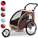 Infantastic� FAH16-Prairie Sand Child Bike Trailer Buggy + Joggerby Infantastic�