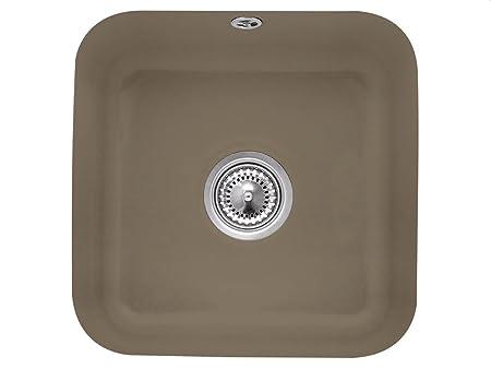 Villeroy & Boch Cist Erna 50Timber Ceramic Sink Undermount Kitchen Sink, Brown