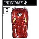 アイアンマン 3D iphone4/4S ケース LED ライト 付き IRONMAN MARKVII レッド