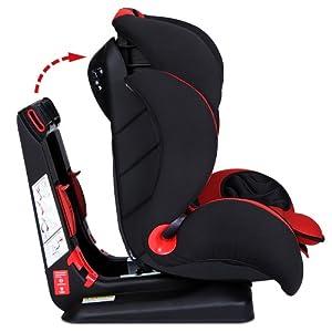 Infantastic - KASTZ02Red Flash - Silla de coche para niños - Rojo - Grupo I/ II/ III - Dos colores a elegir por Jago AG - BebeHogar.com