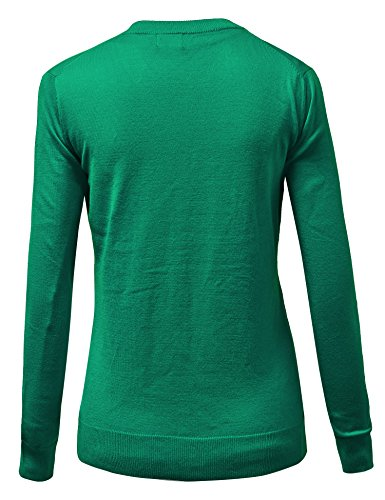 MBJ Womens Keep It Classic Round Cardigan KELLY_GREEN