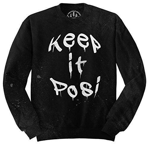 Orso Knuckle combattenti Maglione Fashion-BKB Keep It Posi Black Small