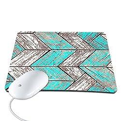 Elonbo TM 8.6 x 7 inches / 220 x 180 mm Wood Stripe Design Waterproof Neoprene Soft Mouse Pad