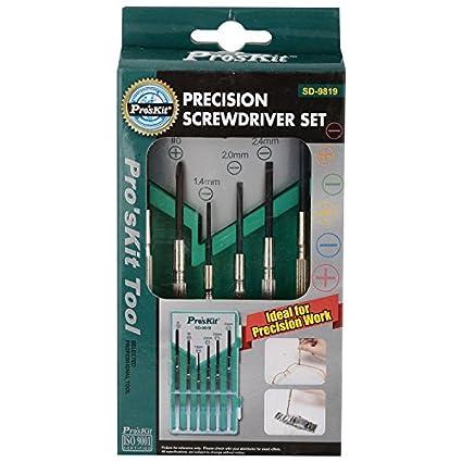 SD-9819 Precision Screwdriver Set (6 Pc)