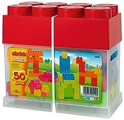 Ecoiffier Abrick The  Brick 50 Pieces, Multi Color