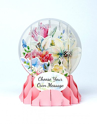 3D Snow Globe - Watercolor Bouquet - All Occasion Card