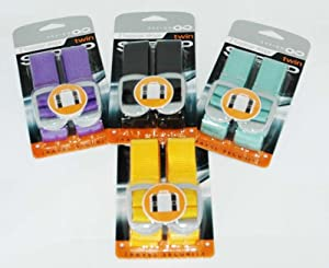 Design Go Luggage Straps - Twin Pack (Colors may vary - Purple, Yellow, Blue, Black)