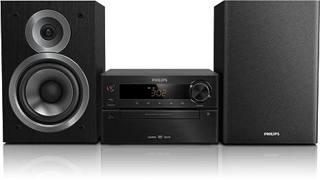 Philips MCD5110/12 Micro chaîne Premium avec lecteur CD et DVD et design aluminium 100W RMS