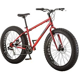 """Amazon.com : Mongoose Hitch Men's Fat Tire Bicycle, Red, 26"""" : Sports"""