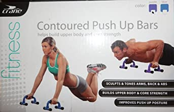 Contoured Push up Bars Helps Build Upper Body and Core Strength Blue