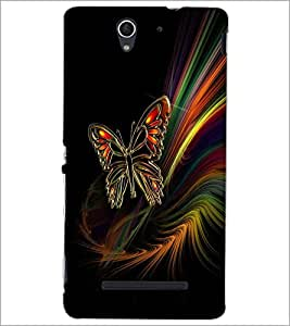 PrintDhaba ButterFly D-2009 Back Case Cover for SONY XPERIA C3 (Multi-Coloured)
