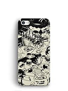 Cover Affair Funky Printed Back Cover Case for Apple iPhone 5