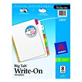 Avery Big Tab Write-On Dividers, 8-Tab Set (23079)