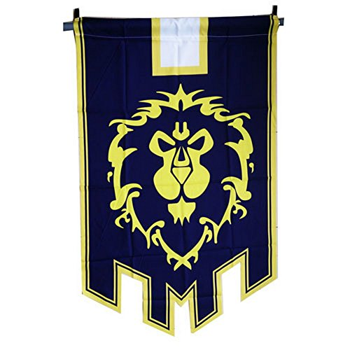 Cheap World Of Warcraft Alliance Banner Flag - Cosplaywho