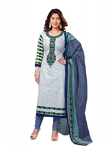 Samskruti Sarees Women Unstitched Cotton Printed Chudidar (Dress Material) (403)