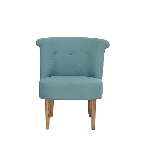 Sessel Webstoff mint Lehne kapitoniert 67x72x66cm, SH 42cm - Modell Corleoni