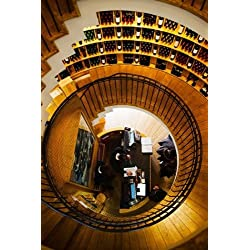 Panoramic Images - Overview of the L'Intendant wine shop staircase Bordeaux Gironde Aquitaine France Fine Art Print (60.96 x 91.44 cm)