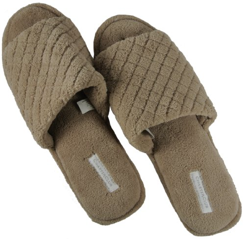 Cheap Charter Club Taupe Open Toe Slide Slippers Size XL 9 1/2 – 10 1/2 (B009CD5V28)
