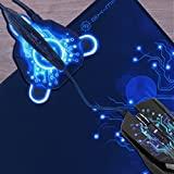 ENHANCE Gaming Mouse Bungee & Active 2.0 USB Hub for Cord Management with Flexible Arm & Data Transfer - Works with Logitech G502 , Anker CG100 , Razer DeathAdder Chroma & More Gaming Mice