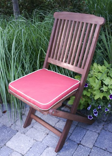 Outdoor Interiors Eucalyptus 3 Piece Round Bistro Outdoor Furniture Set inc