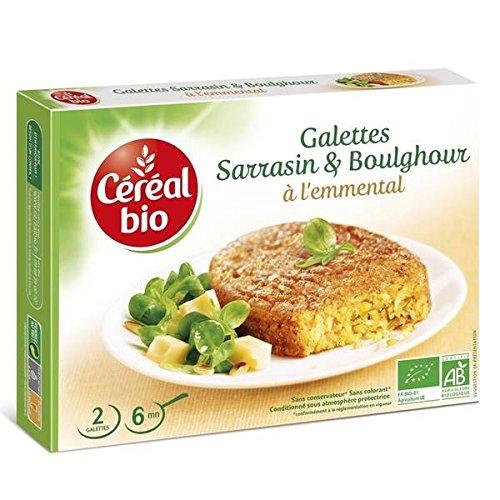 Céréal bio - galettes de sarrasin et boulghour à l'emmental - 200g