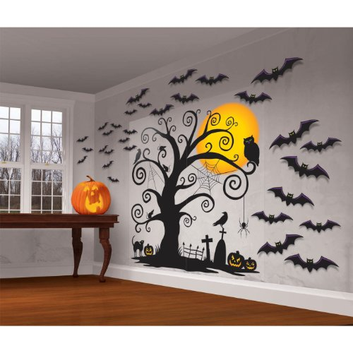 ... Halloween Night Wall Decorating Kit