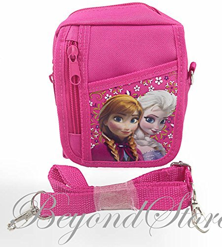 NEW Disney Frozen Elsa and Anna Pink Camera Bag Case Red Bag Handbag - 1