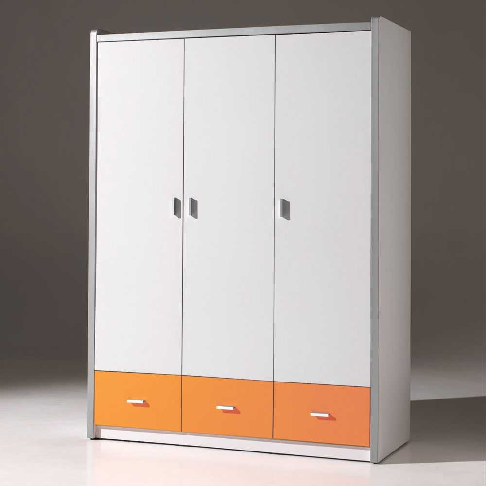 Jugendzimmer-Schrank Orange in Weiß Pharao24