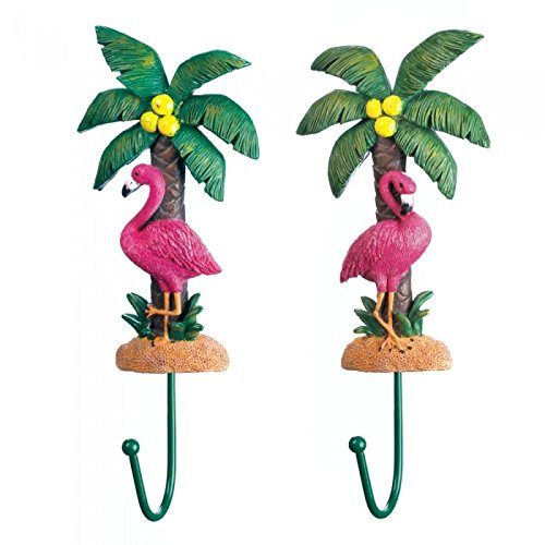 Accent Plus Pink Flamingo Wall Hook set