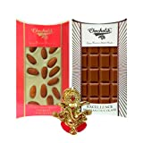 Chocholik Belgium Chocolate Gifts - Crunchy Combo Of Chocolate Bars With Ganesha Idol - Diwali Gifts