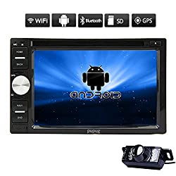 See Pupug Free Camera+Universal 2 DIN GPS Car Radio DVD Player Video Stereo GPS Android 4.2 In Deck WiFi BT TV Car PC Headunit SD Capactive Touch screen Bluetooth GPS Navigation Car CD Player Details