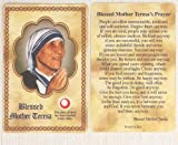 img - for Blessed Mother Teresa Relic Prayer Card book / textbook / text book