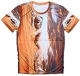 PIZI エジプト グラフィック プリント メンズ 半袖 Tシャツ S