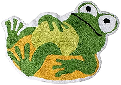 Saturday Knight Frog Mania Tufted Bath Rug - Frog Bathroom Frog Decorations