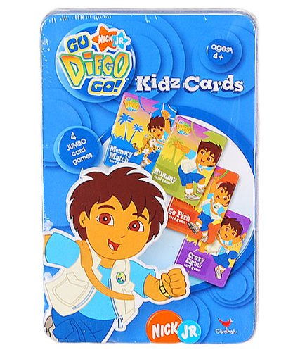 Go NIck JR. Diego Go! Kidz Cards in Tin - 1