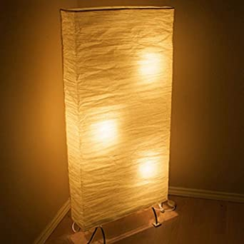 Asian Rice Paper Wide And Tall Floor Lamp Bulbs Included