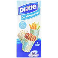 Dixie 5 Ounce All-Purpose Cups, 100 Count ((Colors/Styles Vary)) (Pack of 3)