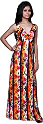 Trendz Today Women's Long Gown (GT02, Multi, X-Large)