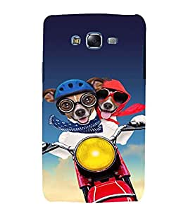 printtech Dog Bike Couple Back Case Cover for Samsung Galaxy Quattro i8552 / Samsung Galaxy Quattro Win i8552